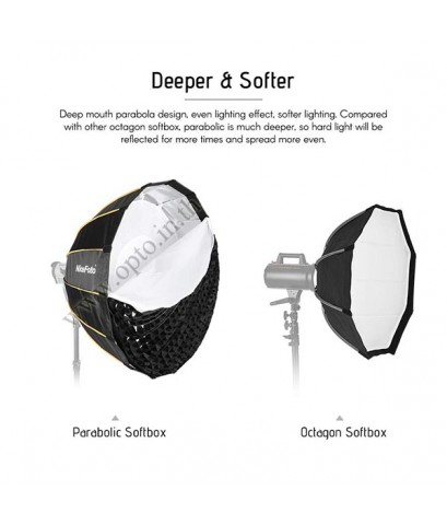 KD90 Parabolic Quick Set-up Deep Softbox+Grid Bowen Mount Studio Flash, 90CM ซอฟท์บ๊อกซ์ ไฟสตูดิโอ