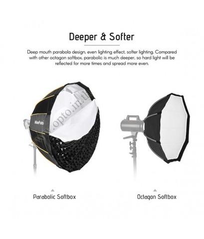 KD120 Parabolic Quick Set-up Deep Softbox+Grid Bowen Mount Studio Flash, 120CM ซอฟท์บ๊อกซ์ ไฟสตูดิโอ