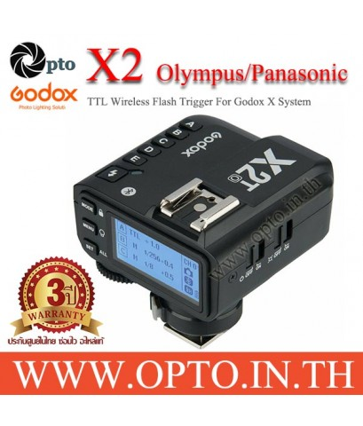 X2T-O Godox TTL Wireless Flash Trigger for Olympus X2 Series แฟลชทริกเกอร์ ตัวส่งแฟลชไร้สายแบบออโต้
