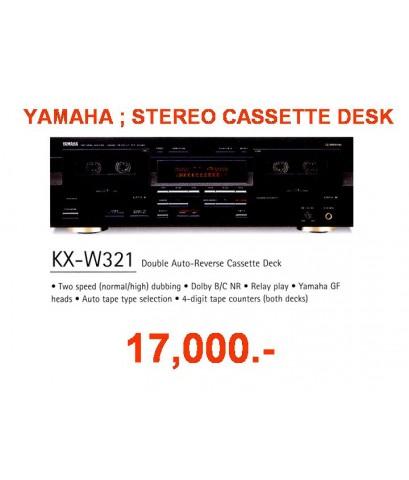Yamaha stereo cassette desk KX-W321  เครื่องเล่นและบันทึกเทปคาสเซ็ท