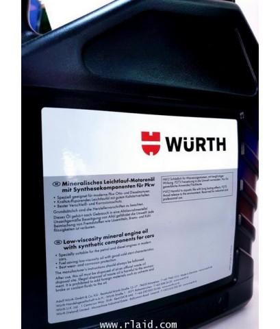 น้ำมันเครื่อง WURTH 10W-40 5ลิตร เบนซินและดีเซล