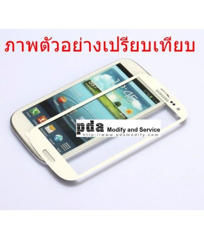 กระจกกันหน้าจอ Original White Screen glass lens Samsung Galaxy Note2 GT-N7100
