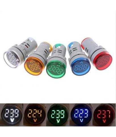 AC volt meter 22mm LED Digital Display Gauge