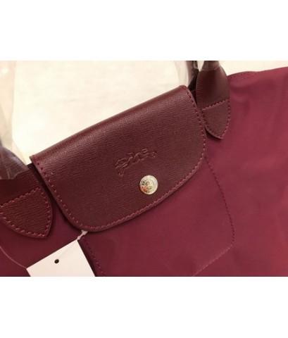 Longchamp Le Pliage Neo Shopping Handbag สีแดง Size M