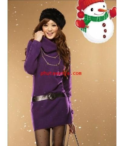เสื้อกันหนาวคอเต่า ถักไหมพรม แสนสวย แฟชั่นนำเข้าจากจีนมาใหม่ล่าสุด ใส่แล้วสวยดูดีมากๆ