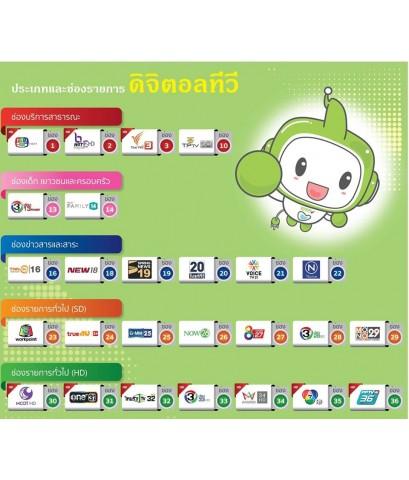 ระบบดิจิตอลทีวีพื้นฐาน 26 ช่อง รองรับเพิ่มจากดาวเทียม 100ช่อง