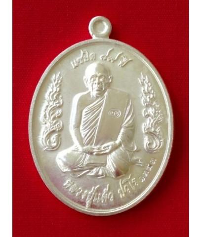 เหรียญแซยิด 89 เนื้อเงิน หลวงปู่แผ้ว วัดรางหมัน