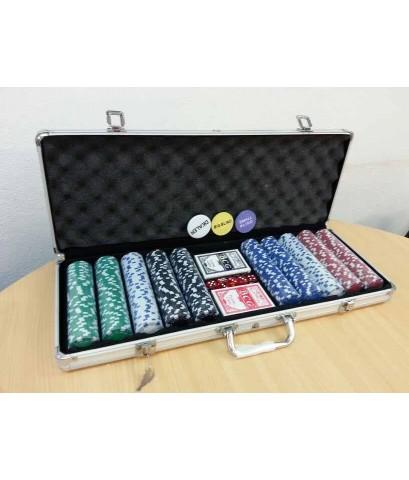 ชุดเหรียญคาสิโนโป๊กเกอร์ชิพ 500 เหรียญ รุ่น Casino Royal