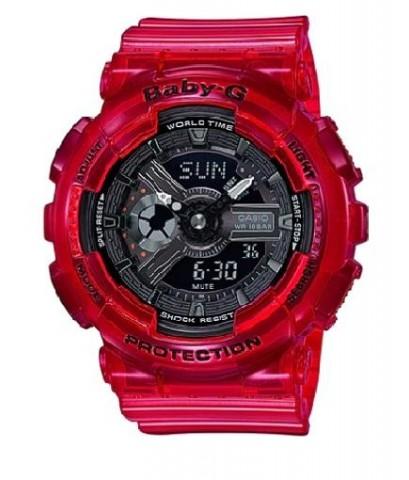 นาฬิกาผู้หญิง BABY-G รุ่นพิเศษ BA-110CR-4A สีแดง