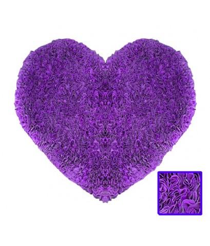 พรมหัวใจ สีม่วง Size M