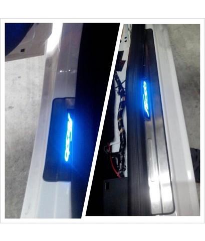 ฟอร์ด เฟียสต้า ติดชายบันไดสแตนเลส มีไฟ LED ทั้ง4บาน กันน้ำ