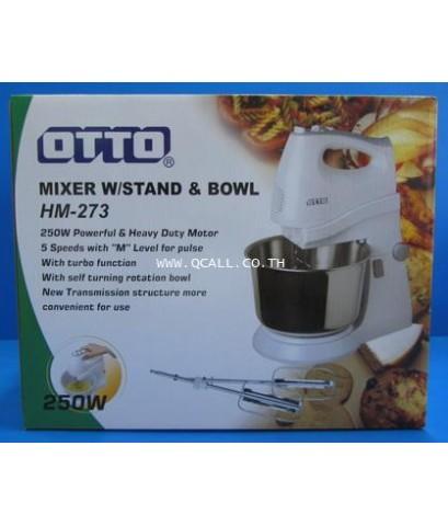 เครื่องผสมอาหาร(ตีไข่) Food Mixer ออตโต้OTTO รุ่นใหม่ HM-273 โถสเตนเลส 2.5 ลิตร  ส่งฟรีถึงที่ทั่วปท.