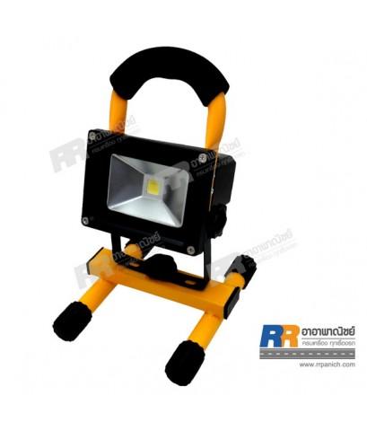 ไฟสปอร์ตไลท์ LED แบบพกพา 2 ฟังก์ชั่น พร้อมที่ชาร์จไฟบ้าน และ ที่ชาร์จไฟรถ