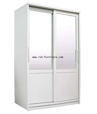 ตู้เสื้อผ้าเวกัสบานสไลด์ขนาด 160 cm บานตู้เป็นกระจก ราคาพิเศษ