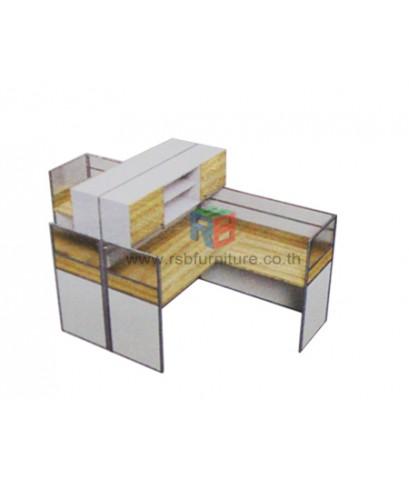 โต๊ะทำงานกลุ่ม 2 ที่นั่ง 306 x 154 cm+ตู้เอกสาร เมลามีนสีพิเศษ รหัส 2342