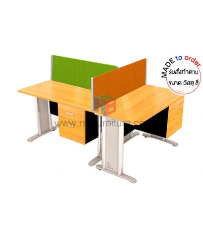 โต๊ะทำงานกลุ่ม ขาเหล็ก WORKSTATION 3 ที่นั่ง ขนาด W180XD120 CM พร้อมฉากกั้น รหัส 2841