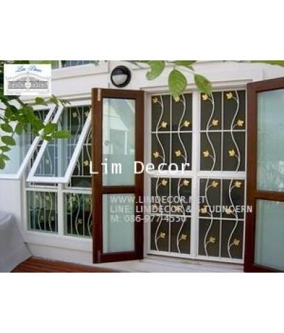 หน้าต่างเหล็กดัด เหล็กดัดอิตาลีอินเทรนด์ (In-trend Metal /Wrought Iron Steel  Curved Window)