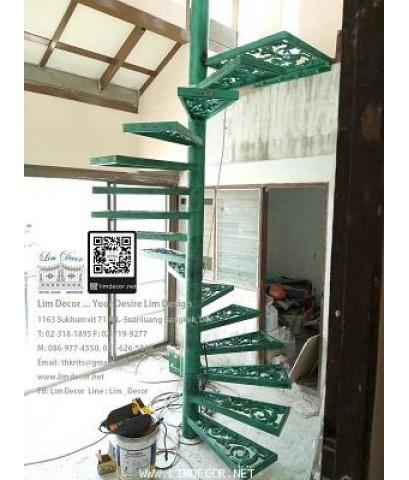 LD–B1265 บันไดวนอัลลอย กรุงเทพฯ Alloy Steel Winder Railing I Staircase BANGKOK