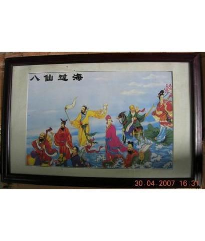 ภาพกระเบื่องจีนรูป 8 เซียน