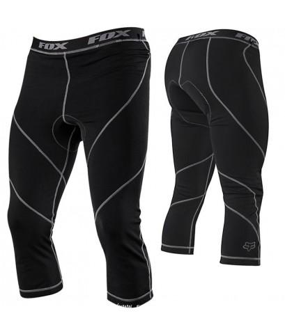 จำหน่าย กางเกง สำหรับ ขับขี่จักรยานเสือภูเขา 3/4 Lin ขายาว FOX สีดำ จาก UK ราคาประหยัด (พรีออเดอร์)