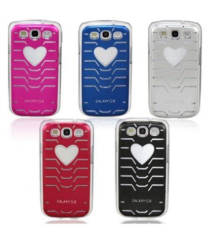 จำหน่าย เคสลาย รูปหัวใจ มีไฟกระพริบเมื่อใช้งาน สำหรับ Samsung Galaxy S3 SIII i9300  ราคาประหย