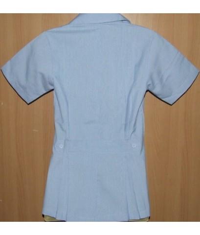 เสื้อฟ้าขาว ผู้หญิง    ปักกระทรวงสาธารณสุข/รพ.สต./ทันตกรรม/3 ยิ้ม