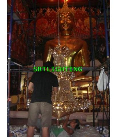 งานติดตั้งโคมไฟ วัดพระลอย   สุพรรณบุรี