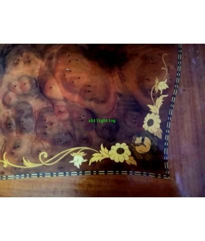 โต๊ะกลาง งานไม้แท้ วีเนียร์ลาย5 สี  งานฝรั่งเศส