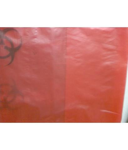 ถุงพลาสติก ถุงขยะ HDPE สีแดง 30 x 40 นิ้ว ไม่พิมพ์ จำนวน 210 กก.