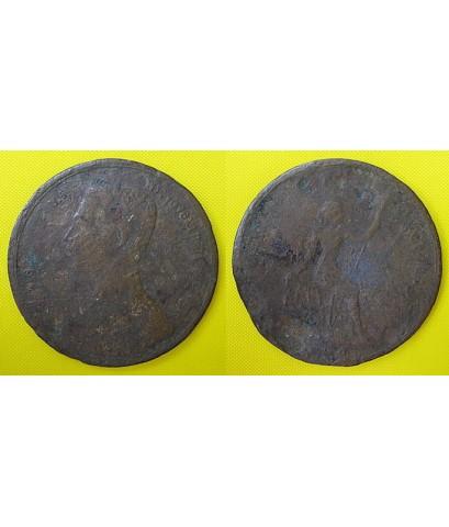 เหรียญจุฬาลงกรณ์ ป.ร.พระจุลจอมเกล้าเจ้ากรุงสยาม เนื้อทองแดง