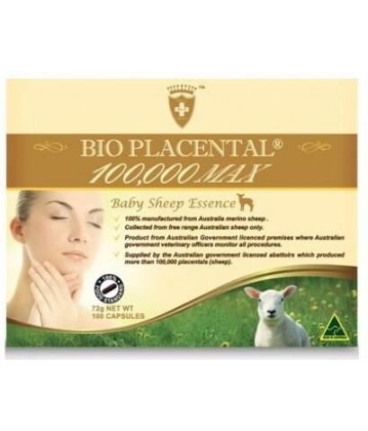 Wealthy Health-Bio Placental 100000 Max Baby Sheep Essence 100 Capsules ออแกนิค พลาเซนต้า 100 เม็ด