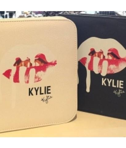 เซตแปรงแต่งหน้า Kylie 14 ชิ้น สีพาสเทล (กระเป๋าขาว) ราคาส่งถูกๆ W.475 รหัส EM408
