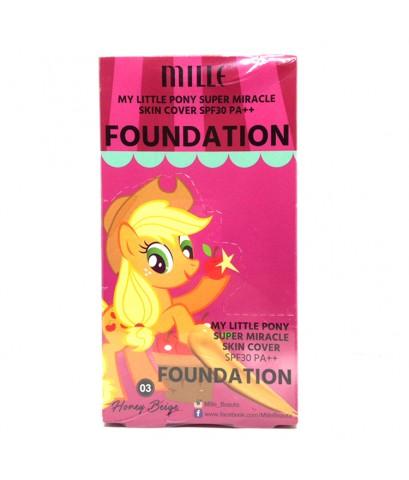 รองพื้น มิลเล่ MILLE Foundation SPF30 PA+03Honey Beige (บรรจุ 6 ซอง) ราคาส่งถูกๆ W.80 รหัส F51