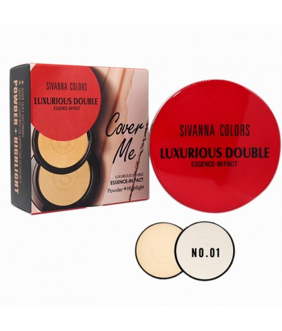 Sivanna Colors Cover Me luxurious Double Essence-In Pact HF6010 No.01 ราคาส่งถูกๆ W.120 รหัส MP331