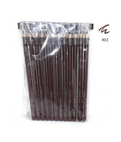 ดินสอเขียนคิ้ว Aac แพ็ค 12 แท่ง No.03 ราคาส่งถูกๆ W.80 รหัส K204-2