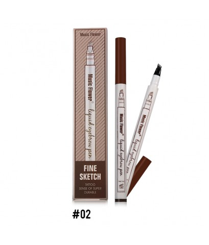Music Flower Fink Sketch Tattoo Sense of Super Durable NO.02(Brown) ราคาส่งถูกๆ W.30 รหัส K101-2
