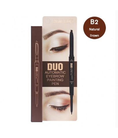 Sivanna Colors Automatic Eyebrow Duo Painting Pen B2 Natural Brown ราคาส่งถูกๆ W.40 รหัส K1-2