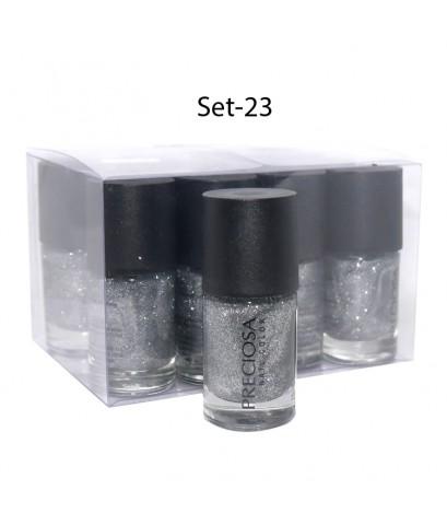 Preciosa Nal Color ยาทาเล็บเจล แบบไม่ต้องง้อเครื่องอบ Set 23 (ยกเซ็ต 12 ชิ้น) W.650 รหัส N90-23
