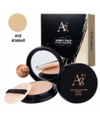 แป้งพัฟออร่าริช Aura Rich Honey Gold Face Powder SPF35 PA+++ No.02 W.100 รหัส MP95 ส่งฟรี