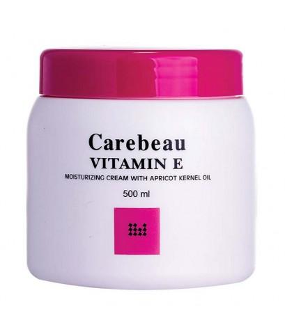 Carebeau Vitamin E Body Cream สูตรเข้มข้นขาวอมชมพู 500 g. ราคาส่งถูกๆ W.555 รหัส BD95-3