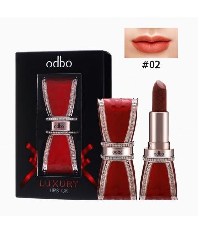 OD574 odbo Luxury Lipstick โอดีบีโอ ลักชัวรี่ ลิปสติก No.02 ราคาส่งถูกๆ W.80 รหัส L28-2