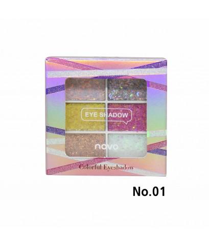 NOVO Colorful Eyeshadow No.01 ราคาส่งถูกๆ W.75 รหัส ES412-1