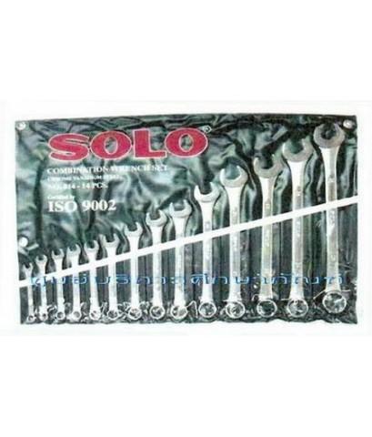ประแจแหวนข้างปากตายข้าง 14 ตัว/ชุด SOLO