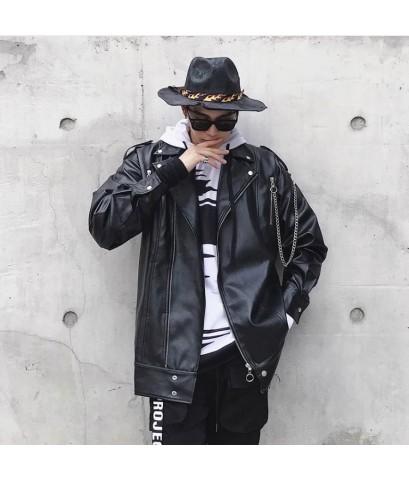 แจกเกตหนังแนวสตรีท วัสดุอย่างดี Street Jacket Fashion