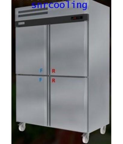ตู้แช่สแตนเลส ฝาทึบ 4 ประตู (เกรด 304) ยี่ห้อ Sanden รุ่น SRD3-1327AS (1,280 ลิตร) แช่เย็นและแช่แข็ง