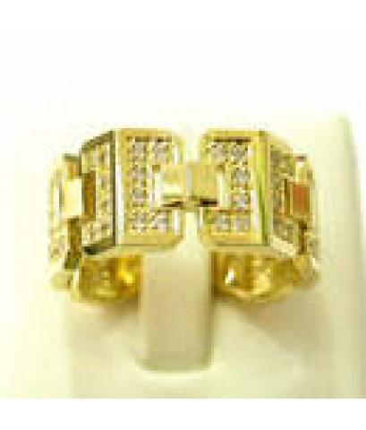 แหวนทองคำขาว ความกว้าง 9mm ดีไซหรูหรา