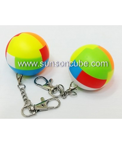 6 pieces Assembly Ball - Keychian