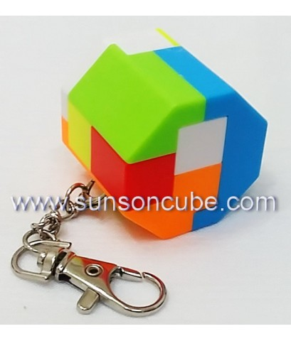 6 pieces Assembly Octahedron Prism - Keychian