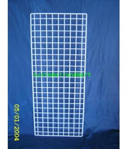 ตะแกรงชุบพลาสติก 42x102 ซม ดำ/ขาว