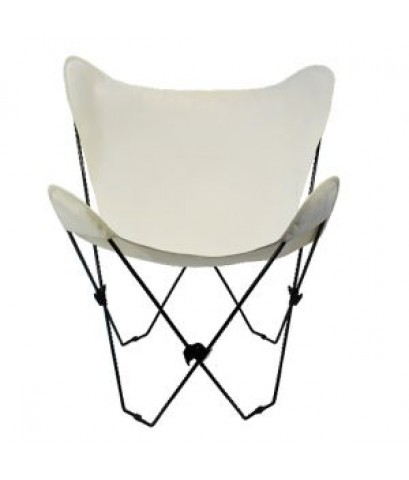 Algoma : AGM4053-00* เก้าอี้พับ Butterfly Chair Black Frame, Natural